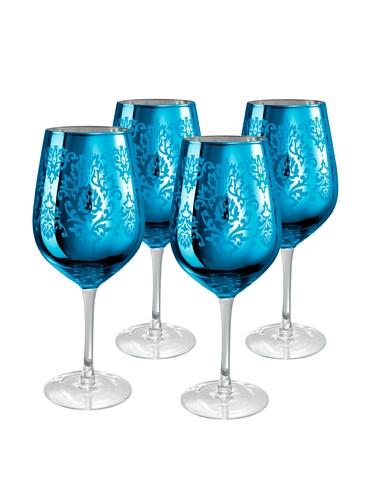 Brocade Goblet (Set of 4) Color: Blue