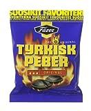 6 x 150g. of Fazer TYRKISK PEBER ORIGINAL (Turkish Pepper) Finnish Salmiak Liquorice Pepper Hard Candy Sweets Bag
