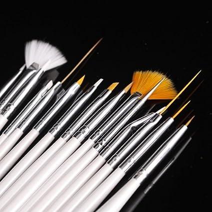15pcs Nail Art Gel Design Pen Painting Polish Brush Dotting Drawing Tool Set NEW Bs-05