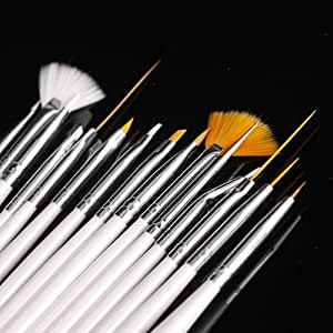 15pcs Nail Art Gel Design Pen Painting Polish Brush Dotting Drawing Tool Set NEW Bs-05