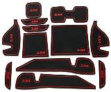 KINGDELUXE H23 スズキ SUZUKI SX4 ロースペック ドアポケット 滑り止め 収納スペース保護 ゴムマット 12枚セット レッド