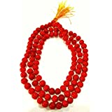Divya Shakti Natural Red Coral Rosary Pagadam / Moonga Mala 108+1 Beads ( 5 Mm )