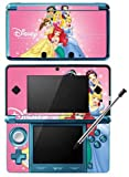 Princess Ariel Jasmine Snow White Belle Game Skin for Nintendo 3DS Console