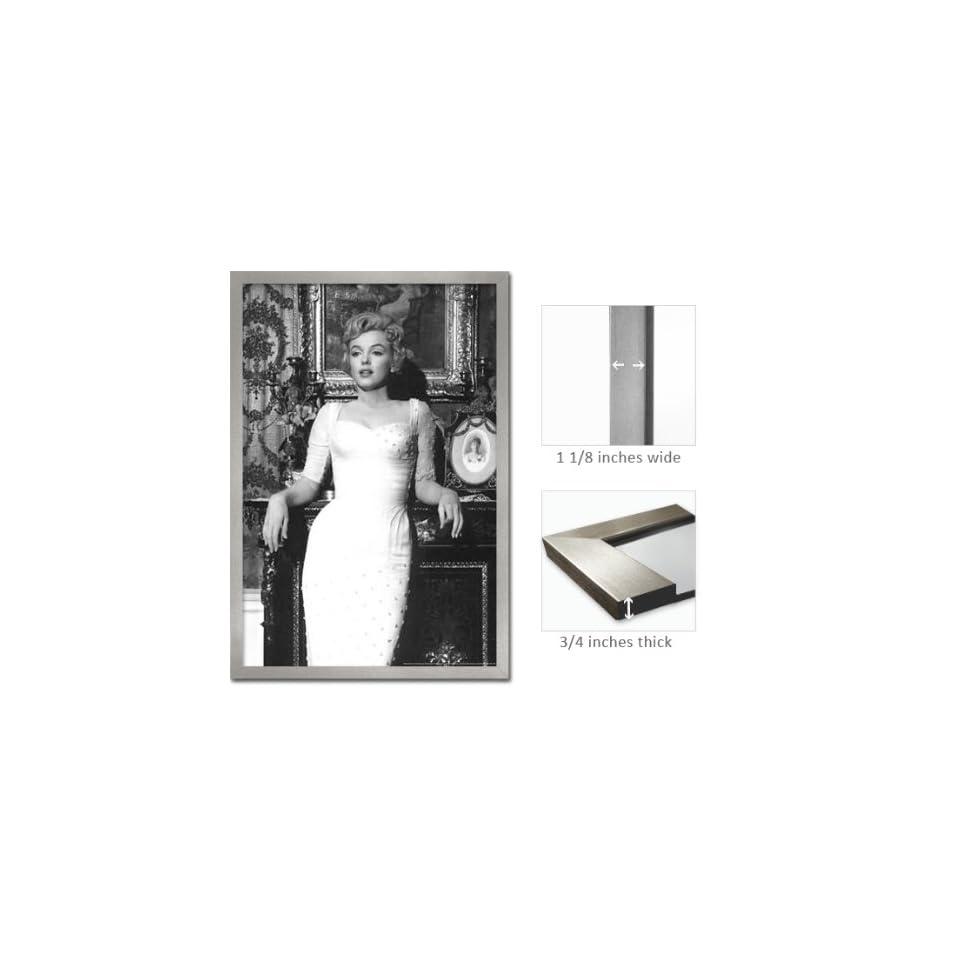 Silver Framed Marilyn Monroe Poster White Dress Movie FrFp1435