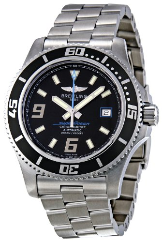 Breitling Men's A1739102/BA79 Superocean Black Dial Watch