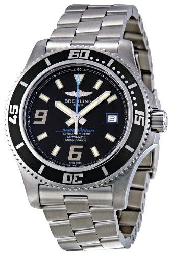 Breitling Men's A1739102/BA79 Superocean Black Dial Watch