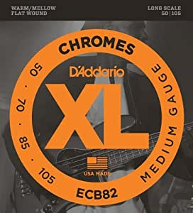 Amazon.com: ECB82 cromos Bass Guitar Strings, Medio, 50-105, Escala