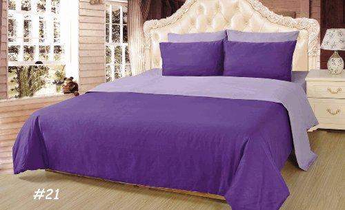 Tache 6 Piece 100% Cotton Solid Purple Lavender Dream Reversible Comforter Set,Queen front-1033377