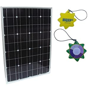 HQRP 50W Mono-crystalline Solar Panel 50 Watt 12 Volt in Anodized Aluminum Frame 10 Years Limited Power Warranty
