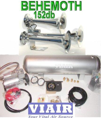 BEHEMOTH Triple Trumpet Train Horn & VIAIR 150psi 275c 2.5 Gal. Kit