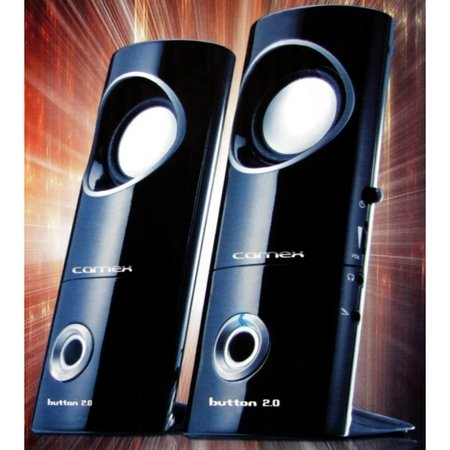 Camex 2.0 Computer Pc Laptop Desktop Notebook Speakers W/ Headphone & Mic Jacks