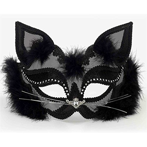 Fancy Venetian Net Cat Mask