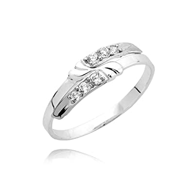 Modern six zirconia split ring