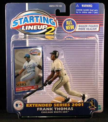 FRANK THOMAS / CHICAGO WHITE SOX 2001 MLB Starting Lineup 2 EXTENDED SERIES Action Figure & Exclusive Trading Card