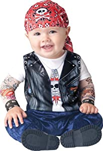 InCharacter Baby Boy's Born To Be Wild, Black/Red, Small