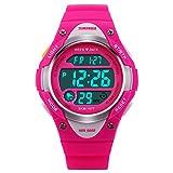 LED Watch Filles Multi Function Mode numérique Résistant à l'eau électroniques Montres Sport