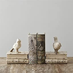 A Pair of Creative Vintage Bird Decorative Book Ends Book Bookends Animals Holder Handicraft Ornaments Home Decoration