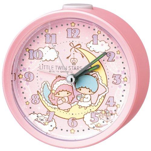 LITTLE TWIN STARS (リトルツインスターズ) キキララ アナログ 目覚まし時計 CQ128P