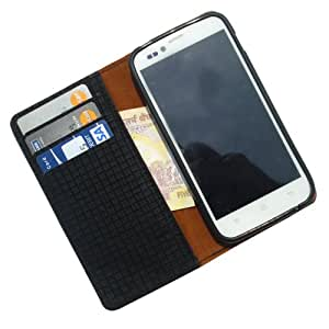 i-KitPit - PU Leather Wallet Flip Case Cover For Samsung Galaxy Core (BLACK)