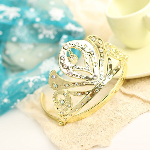 Disney Frozen Anna Golden Tiara Crown Headband Accessories for Kids Halloween Party