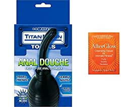 Bundle-2 Items: TitanMen Anal Douche + 5-Pack Toy Cleaner 3295X