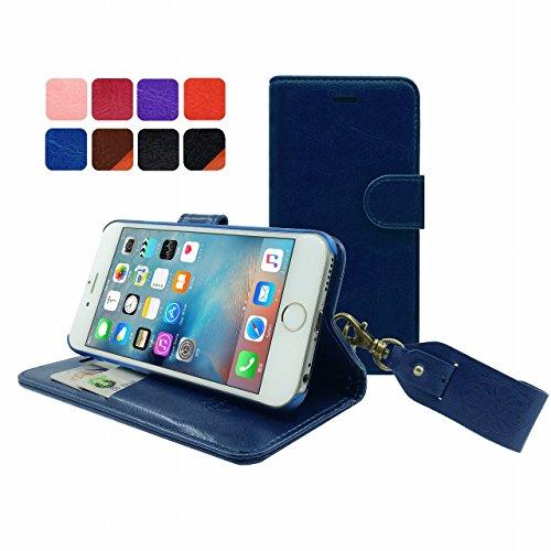HANATORA iPhone 6S/6 対応 PUレザー 手帳型ケース BLUE YHX6S-01BLUE