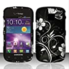 For Samsung Illusion / Galaxy Proclaim i110 (Verizon/Straight Talk) Design Snap-on Protector Hard Cover Case - White Flowers