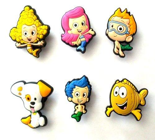 6 pezzi Bubble Guppies # 1 Pendaglio di Gomma Decorazione set di Decorazione di Scarpa