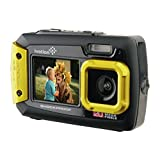 Ivation 20MP Underwater Shockproof Digital Camera & Video Camera w/Dual Full-Color LCD Displays - Fully Waterproof & Submersible Up to 10 Feet (Yellow