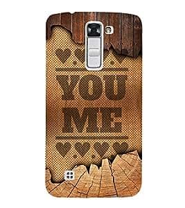 You Love Me Design 3D Hard Polycarbonate Designer Back Case Cover for LG K10 4G Dual