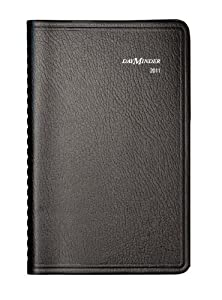 DayMinder Recycled Weekly Appointment Book, 5 x 8 Inches, Black, 2011 (G200-00)