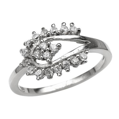 Ring With 1.00ctw Cubic zirconia 925 Sterling silver (Size 5)