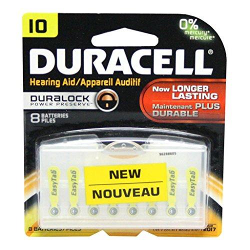 Duracell Zinc Air Hearing Aid Battery 1.4 V Model Da 10 Pack...