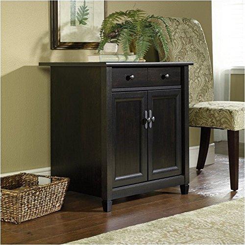 sauder-edge-water-utility-cart-free-standing-cabinet-estate-black-finish
