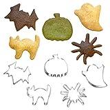 [1616&co.]Halloweenハロウィンクッキー型ステンレス金型モールド5種セット/パンプキン(かぼちゃ)・ゴースト(おばけ)・スパイダー(くも)・バット(こうもり)・キャット(ねこ)/お菓子作りクッキービスケットホットケーキパンケーキ/お弁当作り(デコ弁・キャラ弁)おにぎりサンドイッチ野菜/ハンドメイドクラフト/HW5
