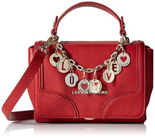 Love Moschino Charms Little Flap Cross Body Bag, Red, One Size