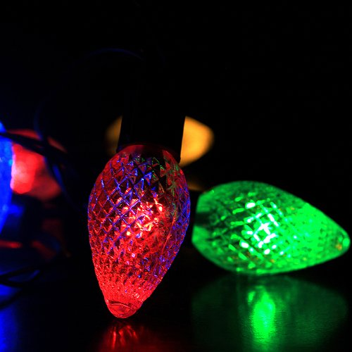 30 led strawberry solar powered outdoor string lights for party garden