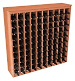 100 Bottle Deluxe Wine Rack in Redwood