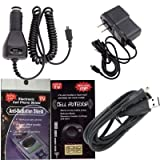 GPS Charging Bundle 5 Piece Kit for Garmin Nuvi 2555LMT : Car Charger, House Charger and USB Cable Charger with Antenna Booster, Anti Radiation Shield .