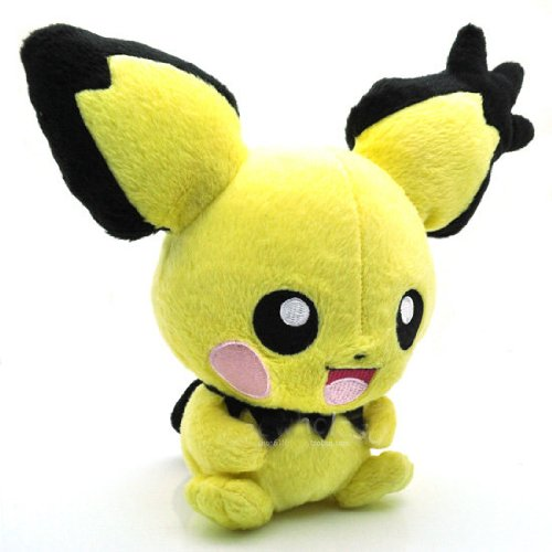 "1 X Cute 7"" Rare Pichu Pokemon Plush Toy Big Ear for Nintendo Soft Children Stuffed Doll Pocket Monster - 1"