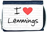 I Love Heart Lemmings Denim Wallet