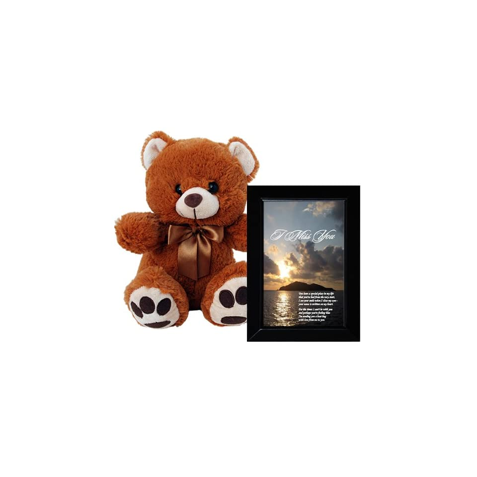 I Miss You Plush Teddy Bear and Love Poem Gift