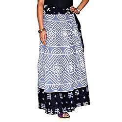 Marusthali Indian Wrap Skirt Bandhej Printed Cotton Gypsy Sarong Bandhani Wrap Around Skirt Long Wraparound Skirts