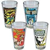 DC Comics Vintage Comic Covers Pint Set
