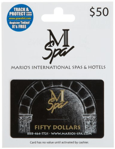 Mario's International Spa's & Hotels Gift Card $50 (Hotels Gift compare prices)