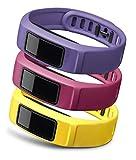 GARMIN(ガーミン) 替えバンド vivofit2用リストバンド3色セット エナジー (パープル/ピンク/イエロ) Lサイズ 1233604
