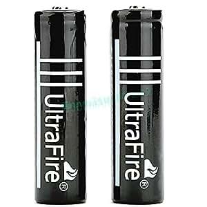 2 x ultrafire rechargeable li ion piles 18650 battery. Black Bedroom Furniture Sets. Home Design Ideas