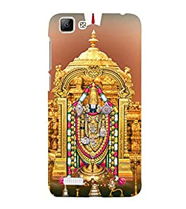 Sri Venkateswara 3D Hard Polycarbonate Designer Back Case Cover for VIVO V1