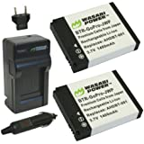 Wasabi Power Battery (2-Pack) and Charger for GoPro HD HERO2, GoPro Original HD HERO and GoPro AHDBT-001, AHDBT-002