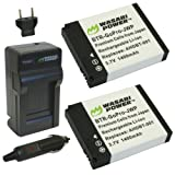 Wasabi Power Battery (2-Pack) and Charger for GoPro HERO2, HERO and GoPro AHDBT-001, AHDBT-002 ~ Wasabi Power